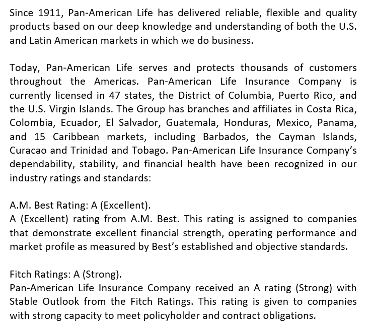About Pan-American Life Insurance Company Medicare Supplement